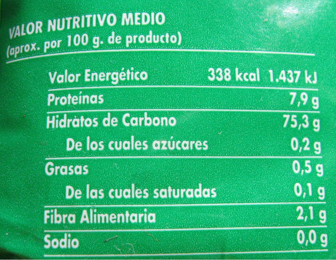 Información Nutricional Obligatoria